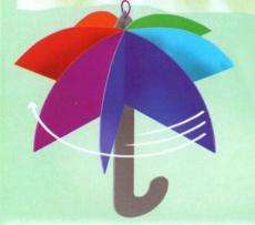 Зонтик из бумаги своими руками схема 45